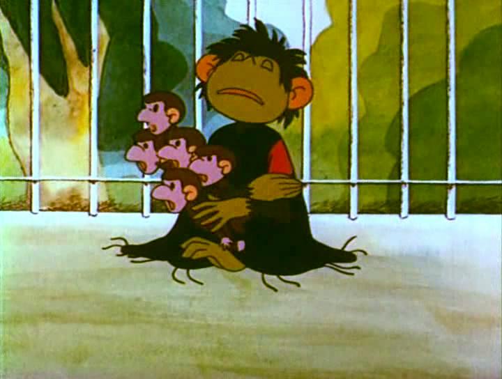Картинка мамы обезьянки из мультика